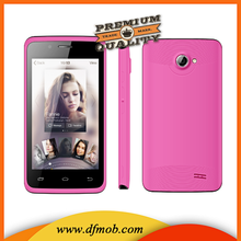 "New Smart Phones 4.0""Screen RAM:512MB+ROM:4G WIFI 3G Mobile Phone With Yellow Pink Color K4001"