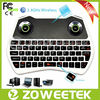 Super Speaker and Earphone Wireless Mini Air Fly Mouse Keyboard with Touchpad and Backlit ZW-51028