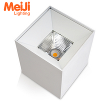 high quality 15W IP44 commercial square surface mounted led ceiling downlight