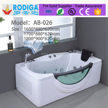 Autme 026 Wholesale new style fiber glass bathtub with lights luxury whirlpool massage bathtub