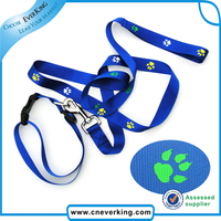 Custom colorful jacquard polyester hands free dog leash