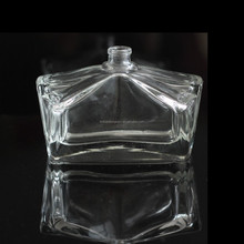 Fancy butterfly design clear empty perfume glass bottle with custom made cap