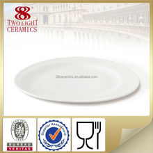 hotel and restaurant porcelain shallow plate cutlery tray