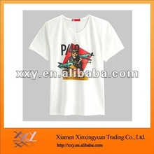 White New Stylish Fake Designer T-shirt