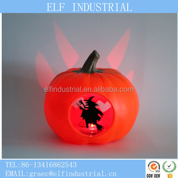 china supplier hot sale giant halloween decoration led plastic halloween pumpkin with projector