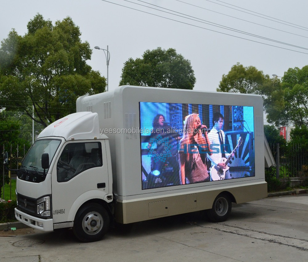 Yeeso high definition outdoor P6mm digital mobile billboard truck for sale