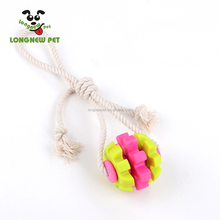 Rope Plastic Mix Dog Chew Toy Colorful Dog Ball Toy