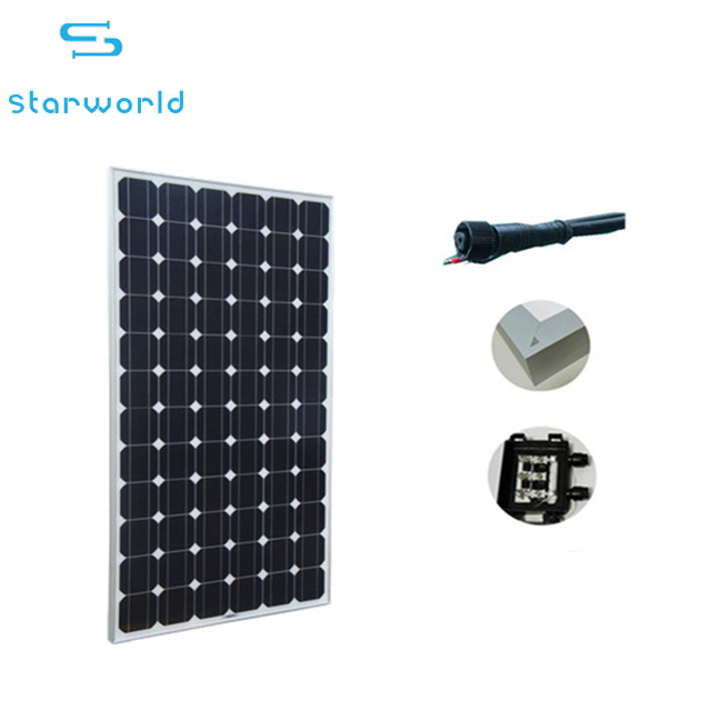 Solar Energy High Efficiency Black 300w Mono Panel PV Modules Power Panel for home