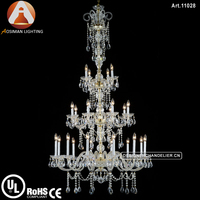 24 Light Modern Glass Bohemia Crystal Light