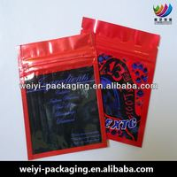 super 2014 hot products sell shinning black red ziplock tear notch pouches