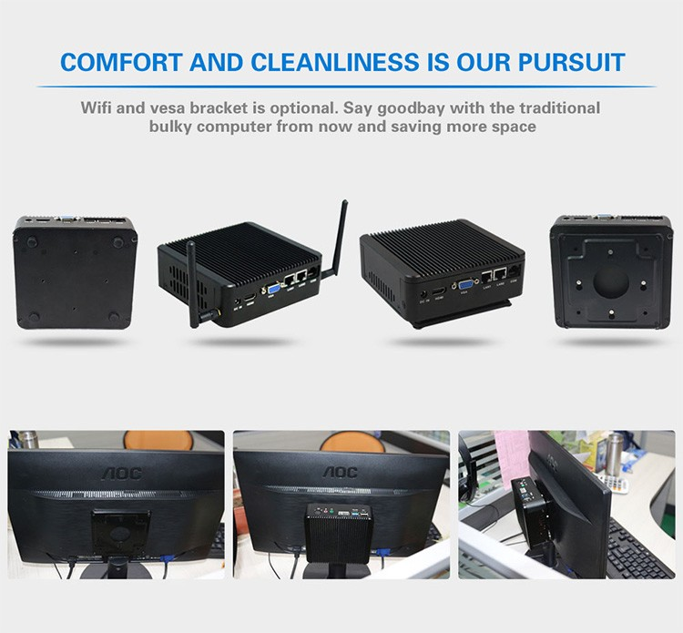 2016 cheap nettop dual nic computer, 2 lan port firewall mini pc