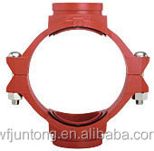 ductile iron grooved pipe fittings and couplings/threaded grooved mechanical cross/tee
