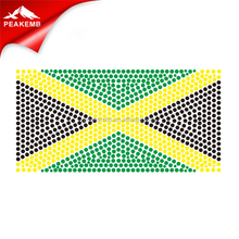 Sticker transfer Jamaica flag rhinestone transfer designs
