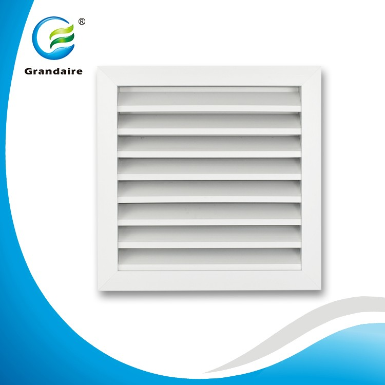 Air Conditioning Aluminum Return Grilles Weather Louvers with Bird/Inset Mesh for Outdoor Wall