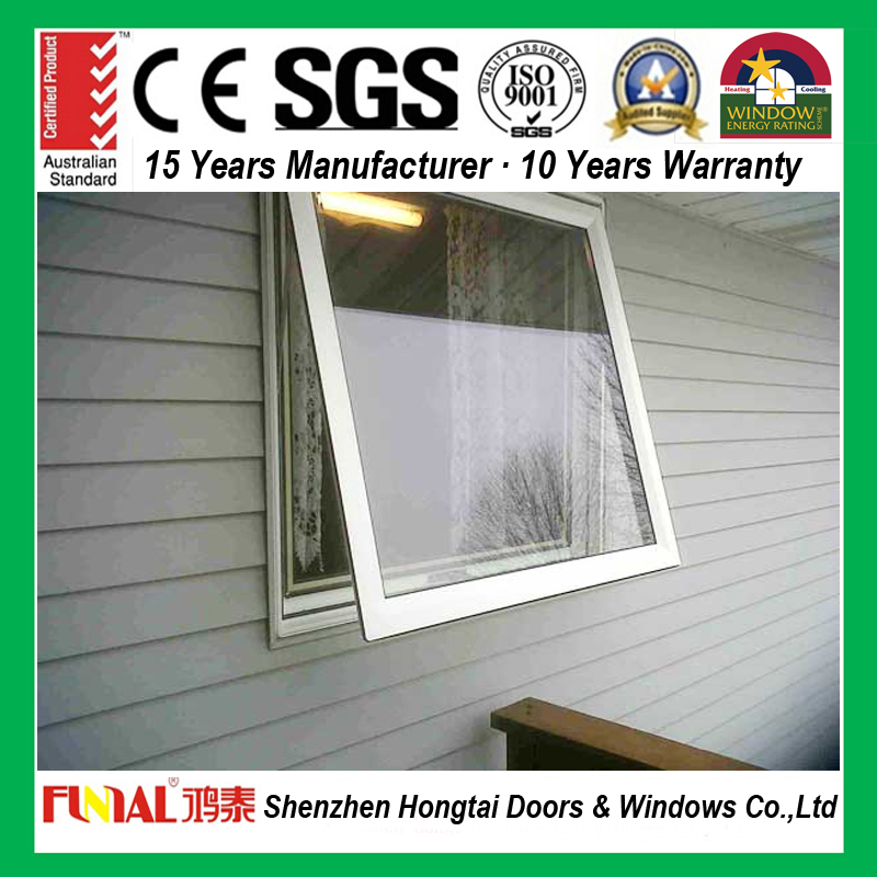AS2047 standard aluminum awning windows with AS2208 double glazed aluminum chain winder awning windows