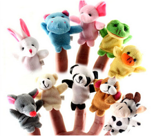 8 cm small cute plush custom toys factory soft baby animal finger puppets