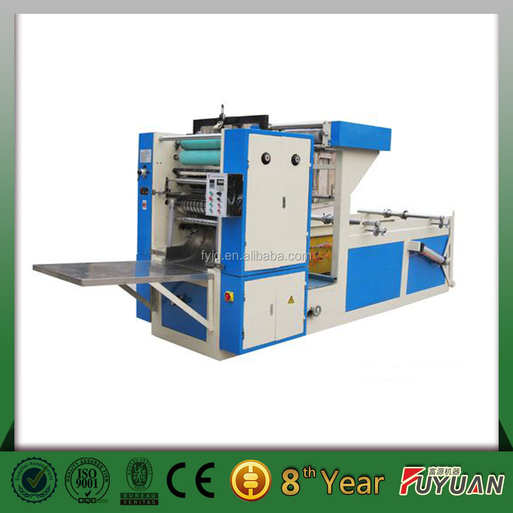 Napkin paper making machine facial tissue paper printing and folding machine