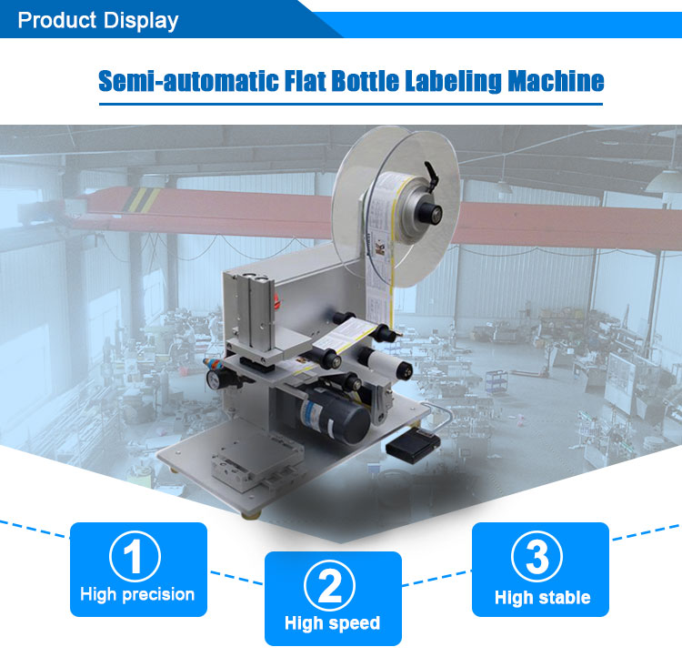 semi auto flat labeling machine 4