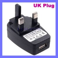 UK USB AC WALL Charger/travel charger For iphone and for IPOD NANO TOUCH