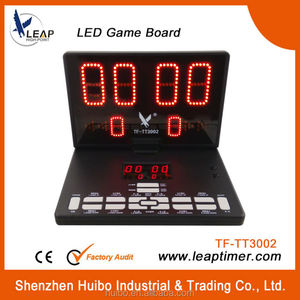 partable electronic led table tennis scoreboard for sale