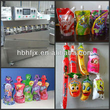 food beverage and vitamin water small pop tubes or preformed pouch special shaped sachet filling and sealing packaging machine