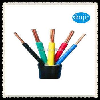multicore double PVC insulated electric wire cable with stranded copper; industrial HO5RN-F/H07RN-F cables