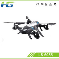 2016 New and popular model quadcopter 2.4G 4CH LS 6055 drone flying land and air