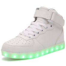 Luminous Sneakers USB Charging light Flashing led shoes Lovers Casual shoes Gym shoes the chrismas gift
