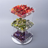 Retail Store Furniture Pexiglass Candy Containers Counter Candy Box Acrylic Tray Candy Display Case