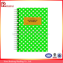 Yiwu Factory Supply Excellent Design Custom Spiral NoteBook