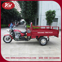 Popular design made in China air-cooled red tricycle with motor