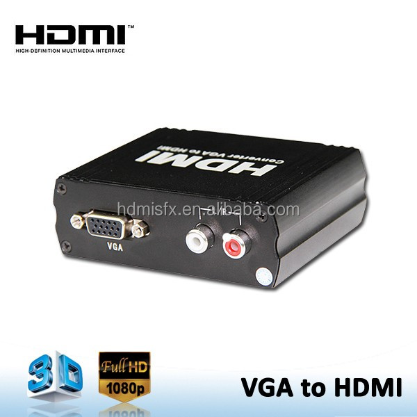 New VGA R/L Audio to HDMI HDTV Video Converter