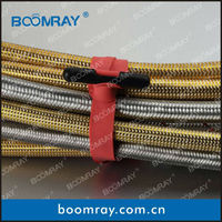 Boomray Plastic Wire Cord Strap Wrap Tag wire wall clips Black cable ties/wire ties/ flexible cable ties