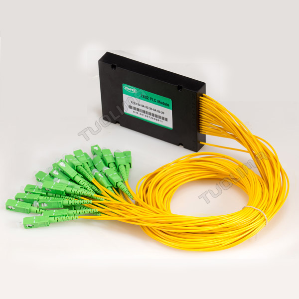Tuolima ABS ftth GEPON 1*16 PLC fiber optic splitter with FC/UPC connector