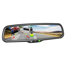 High quality night vision camera car rear view mirror dvd player with reversing radar