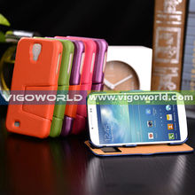 Flip Case with Caller ID Window Cover Activates Sleeping Functional For Samsung Galaxy S4 i9500