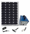 portable solar power system with inverter output