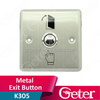 Door metal exit button, exit switch, door open button