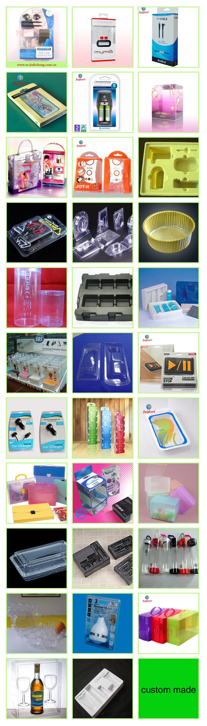 Custom-made clear pvc small plastic rectangle storage box