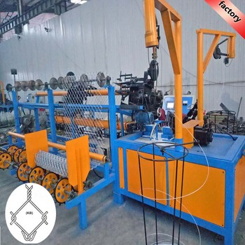 Servo Motor controlled used fully-automatic chain link fence machine with certificate