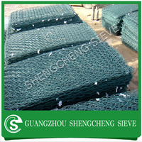 China green PVC coated hexagonal wire mesh coastal defence gabion box bronjong kawat gabion