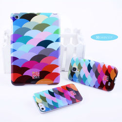 Fish scale parttern TPU IMD glossy case new trendy case for cell mobile phone iphone 5s original