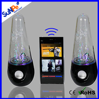 Hifi light up subwoofer tower bluetooth fountain LED water dance speakers for computer accessories