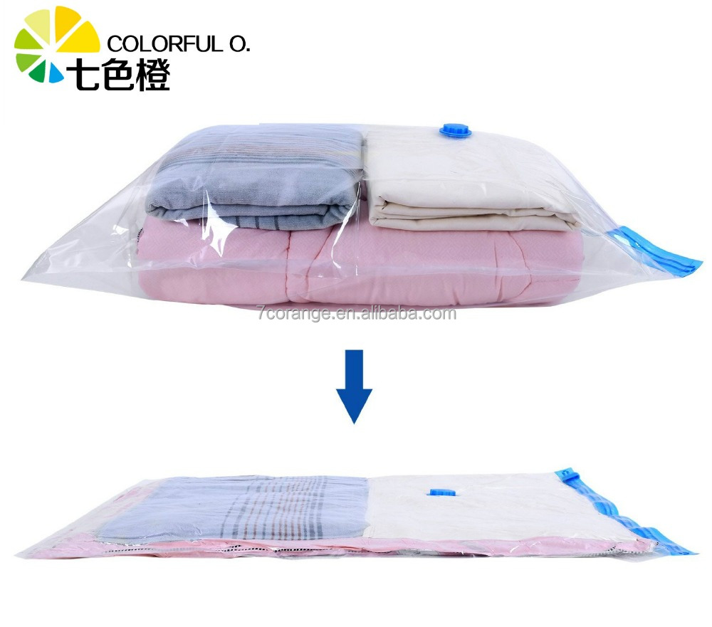 PA+PE transparent seal vacuum bag with hand pump