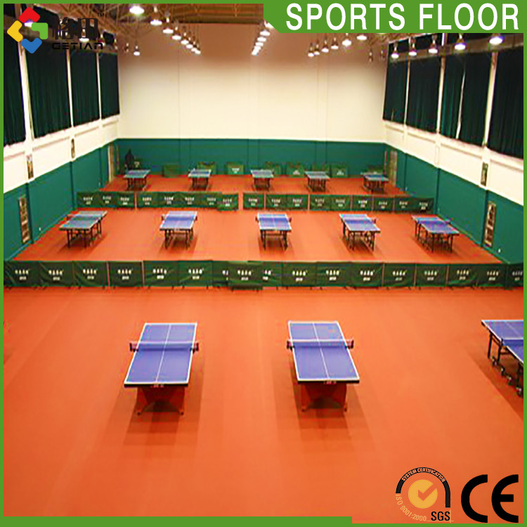 CE Standard Promotional top quality pp interlocking table tennis flooring indoor