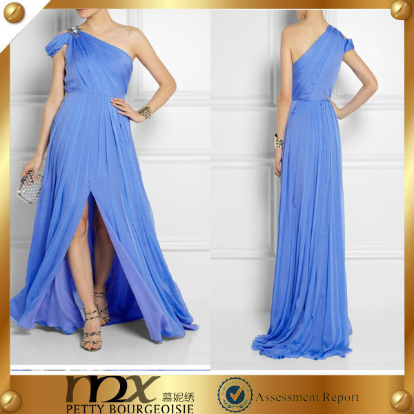 evening dress one-shoulder kaftan dress