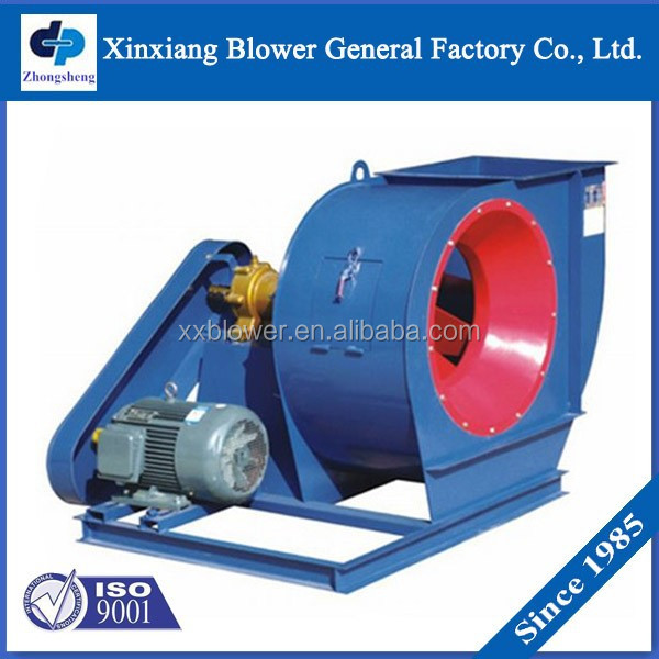 Anti-corrosion antiwear belt driving Industrial centrifugal fan for boiler cooling