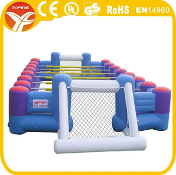 2017 inflatable football field/inflatable football pitch/inflatable soccer field