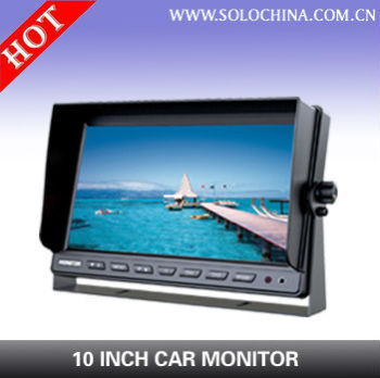 10 inch Vehicle monitor for rear view or car DVR display