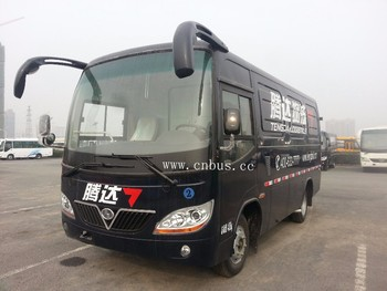 China 9m diesel bus type cargo passenger transport van